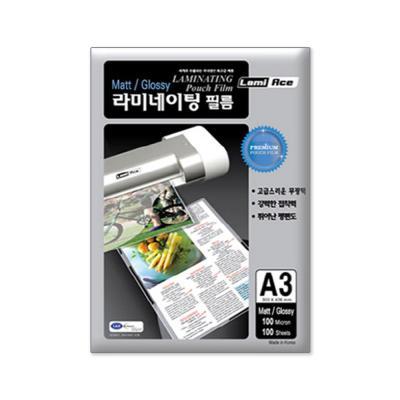 라미에이스 단면무광 코팅필름 100MIC A3(100매)