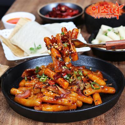 [이소떡] 볶아먹는 기름떡볶이 3팩 + 만두세트