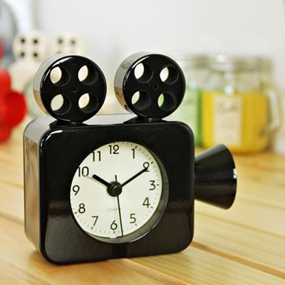 (ktsx092)영사기 저소음탁상시계 블랙