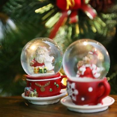[4만마켓] 산타&곰돌이 스노우볼 세트