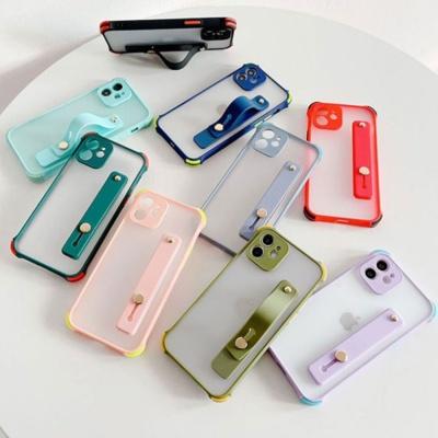 아이폰11 PRO MAX 마카롱 범퍼 반투명 스트랩 케이스