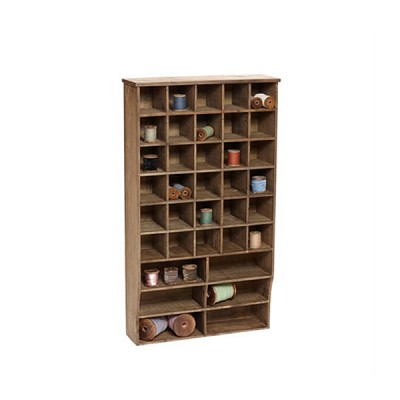 [Hubsch]Shelving unit w/36 compartments, wood nature 885011 벽선반
