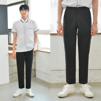[빅사이즈] 하복 스판 블랙 교복바지(남자) ~6XL