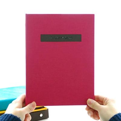 THE MOMENT 제이로그 접착식앨범X스크랩북 바인더-핫핑크