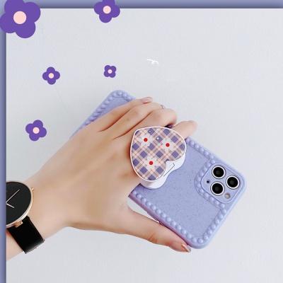 아이폰se2 8 7+/반짝이 펄 하트 그립톡 실리콘케이스