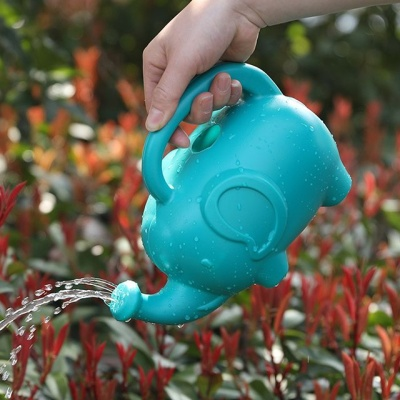코끼리모형 화분 정원 물조리개 민트