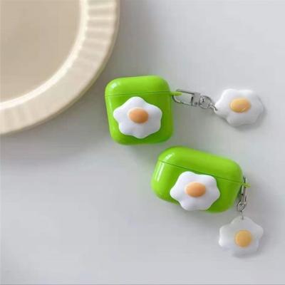 에어팟 프로/2/1 계란후라이 슬림 실리콘 케이스 키링