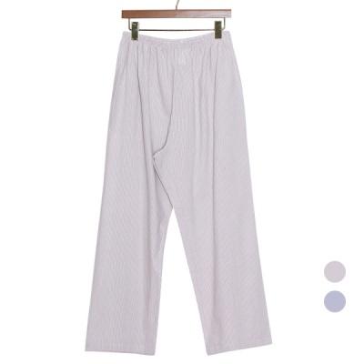 [쿠비카]세로 스트라이프 면 파자마 여성잠옷 W835