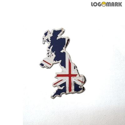 영국지도 뺏지