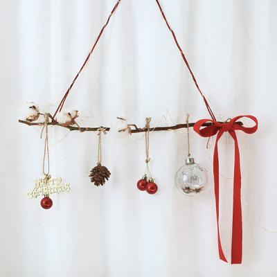 크리스마스 유리볼과 목화가랜드 전구set