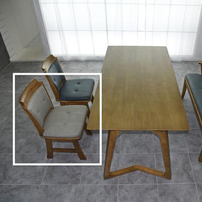도밍 고무나무 원목 식탁 의자