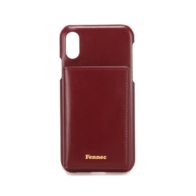 FENNEC LEATHER iPHONE XS POCKET CASE - WINE