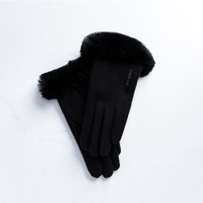 여성 렉스 목털 모직장갑