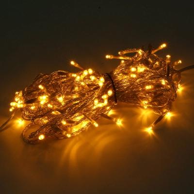 [은하수] 100구 투명선 LED 웜색 지니전구(10M) (전원