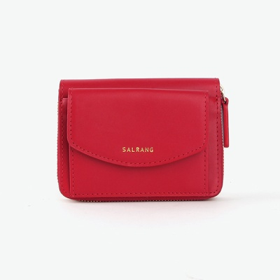 REIMS W016 Zipper poket Wallet Cherry Red