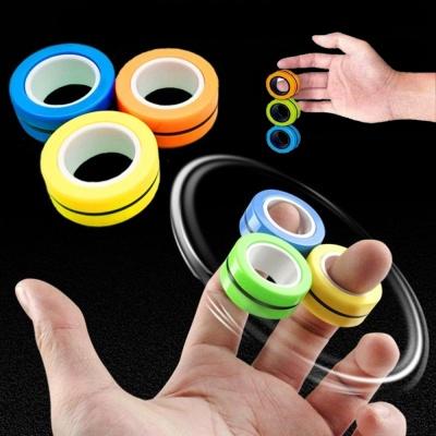 회전 마그네틱 링 스피너 피젯토이 집중력향상 장난감