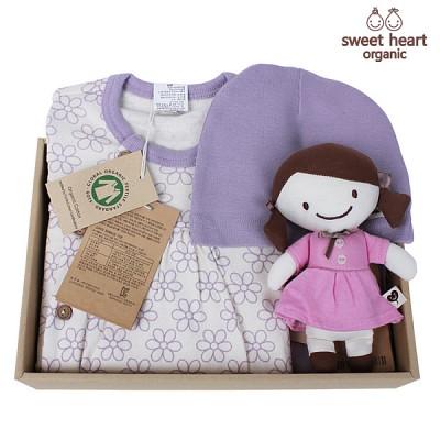 [출산선물/백일선물/돌선물]오가닉 라인꽃 행복 선물세트