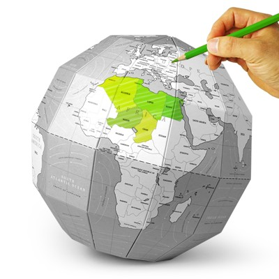 재미로 DIY 지구본 - 컬러링(그레이)