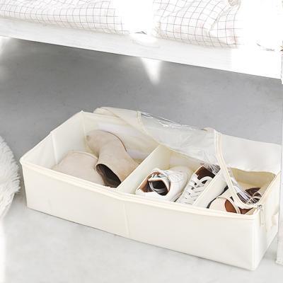 옥스퍼드면 언더베드 투명창 신발 수납 보관 정리함