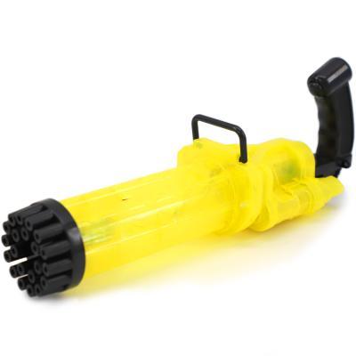 LED 21구 게틀링 버블건 자동 비눗방울 총 (옐로우)