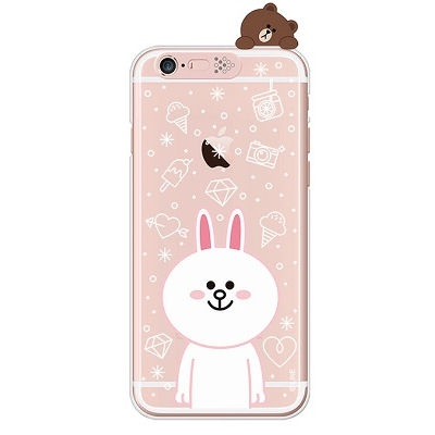 [SG DESIGN]iPhone6/ iPhone6 Plus 라인프렌즈 코니 LIGHT UP Case-Rose Gold(하드타입/라이팅)