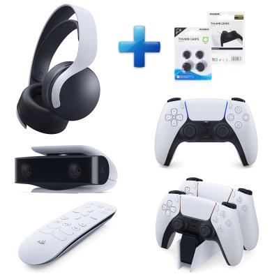 PS5 듀얼센스+헤드셋+카메라+충전거치대+리모컨