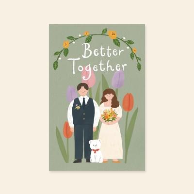[사랑카드] HH3525_better together 결혼축하