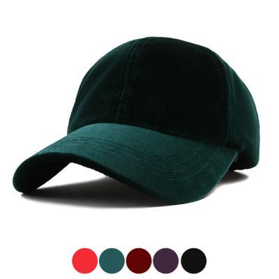 [디꾸보]부드러운 벨벳 볼캡 모자 DCH-HN342