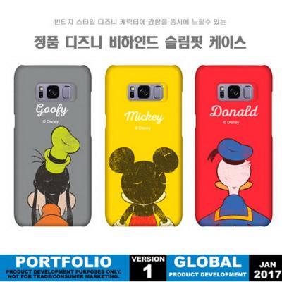 정품 디즈니 비하인드 슬림핏 스마트폰 하드케이스