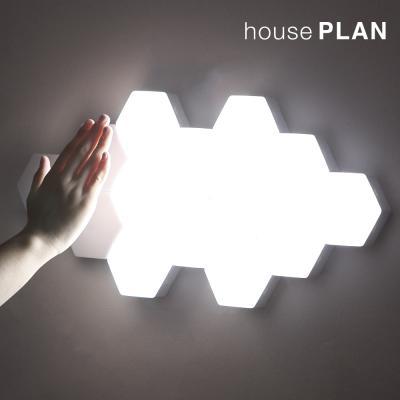 [1+1 이벤트] 하우스플랜 터치식 무선 벌집조명