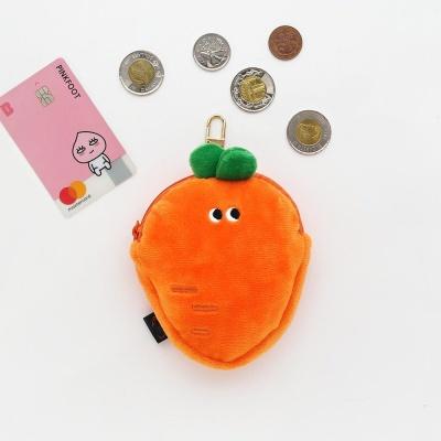 핑크풋 당근 카드 동전 지갑