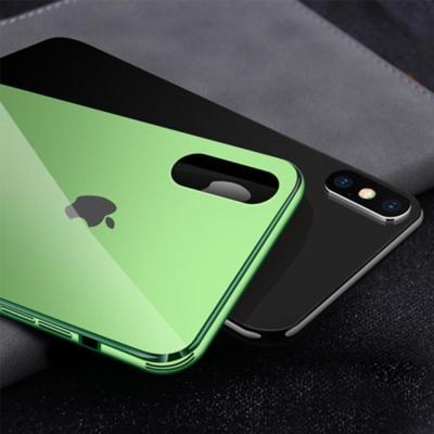 아이폰XS X 슬림핏 클린 강화유리 하드 휴대폰 케이스