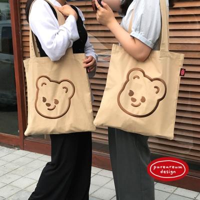 큐피드곰 자수 에코백(베이지/인디핑크/브라운)