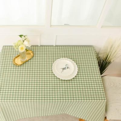 멜란체크 민트그린 방수식탁보 테이블보