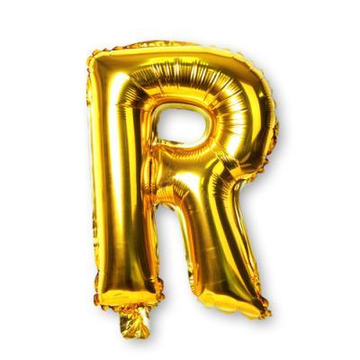 골드 알파벳 풍선-R (1개)