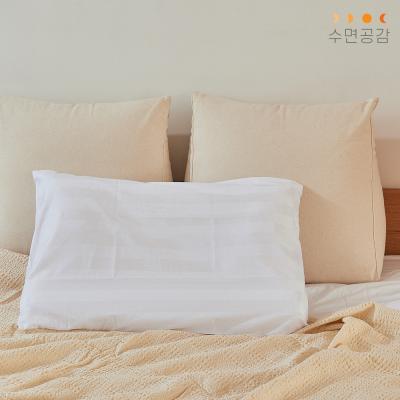 [수면공감] 우유베개 도비직 커버(50X70)/화이트