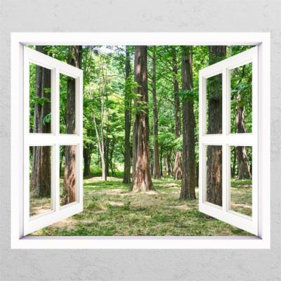 ie648-푸른숲속의나무들_창문그림액자