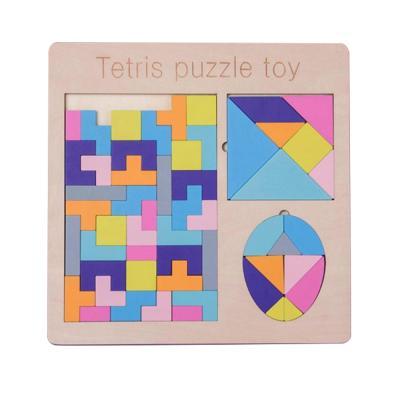 맥킨더 우드 파스텔 칼라 테트리스 퍼즐