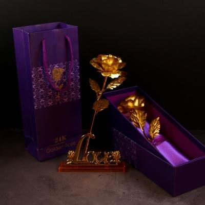 GOLD 금장미 장식 황금 장미 카네이션 어버이날 선물