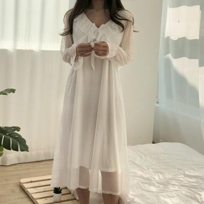 브라캡 레이스 홈드레스 원피스 잠옷