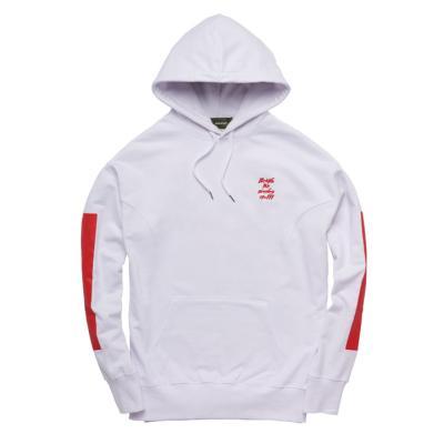 Strutting gait hoodie White