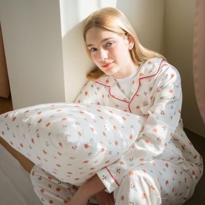 Dot cherry bear-white(Pajamas)