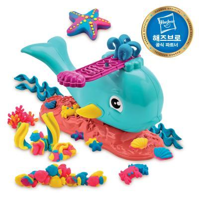 플레이도우 바다 고래 뿜뿜 클레이 플레이도