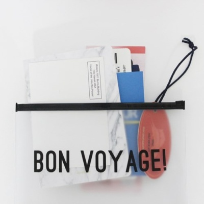 Clear Travel Pouch - Bon Voyage