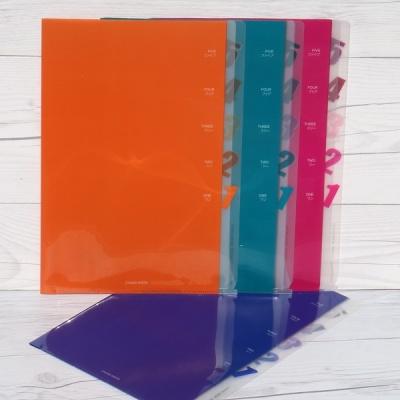 다섯칸으로 분리된-청운그린화일 5 Pocket Clear Holder A475