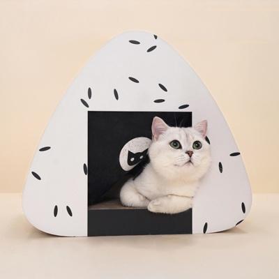 [봉봉펫닷컴] 삼각김밥 고양이 숨숨집(블랙&화이트)
