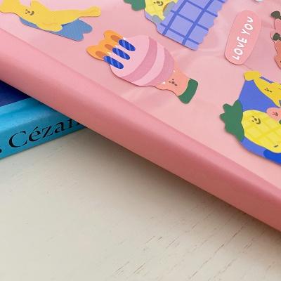 쏘슬러시 데일리 컬러 노트 핑크(그리드)