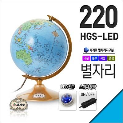 낮엔 지구본 밤엔 별자리 LED조명 지구본 220-HGS