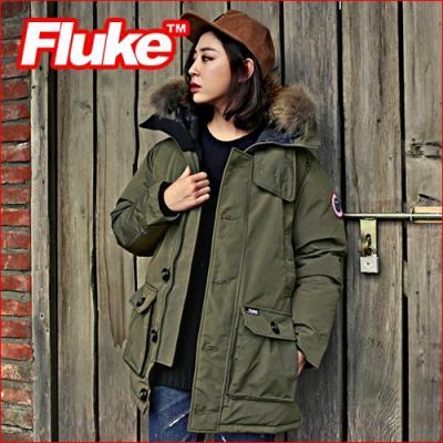 [플루크 패딩] 알레스카 리얼라쿤 다운야상 패딩 점퍼 카키 FPJ1508-KHAKI FLUKE 15FW