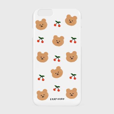 Dot cherry bear-white(하드/터프/슬라이드)